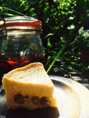 オーガニックラムレーズンチーズケーキ