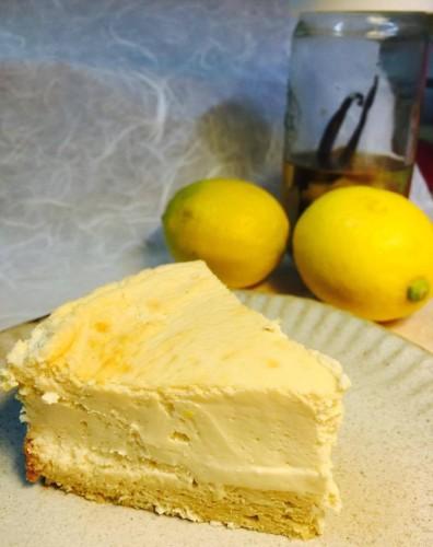 無農薬レモンチーズケーキ